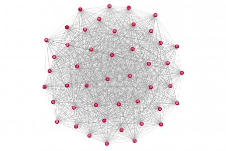 networkxで全国名字ネットワークを可視化してみた画像